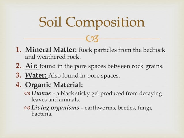 Soils for Minerals in dirt