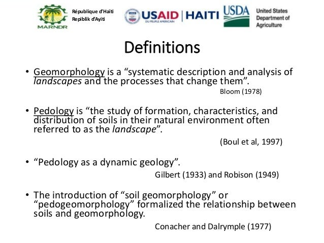 Haiti soil survey and natural resources conservation for Soil as a resource introduction