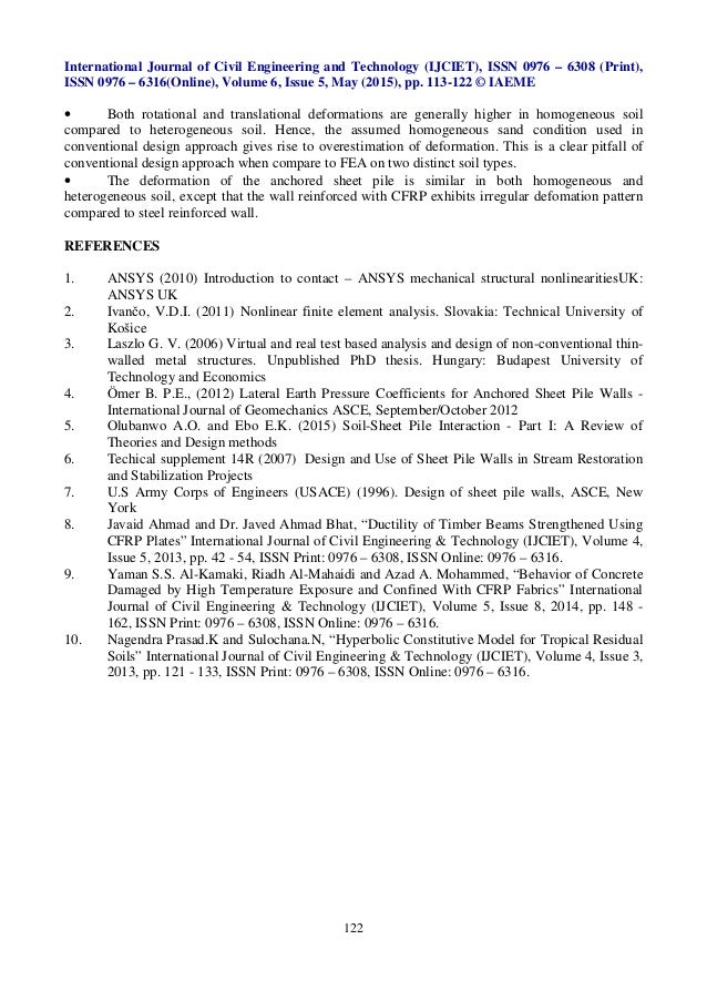 Soil sheet pile interaction part ii numerical analysis for Soil homogeneous or heterogeneous