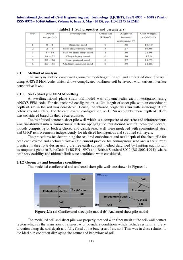 Soil Sheet Pile Interaction Part Ii Numerical Analysis