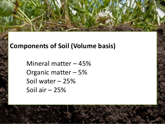 Soil science review for amat 2015 for Mineral constituents of soil