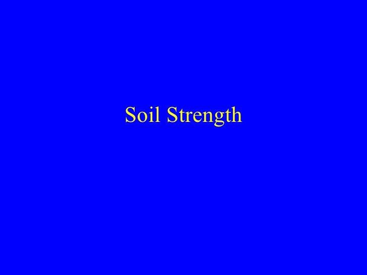 Soil Strength