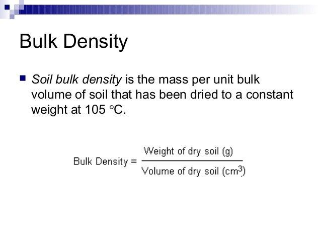 Soil structure density and porosity for Soil volume calculator