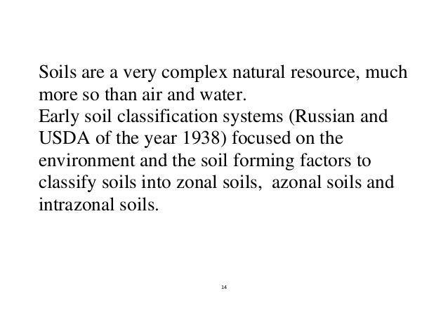 14 14 soils are a very complex natural resource
