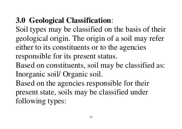20 20 30 geological classification soil types