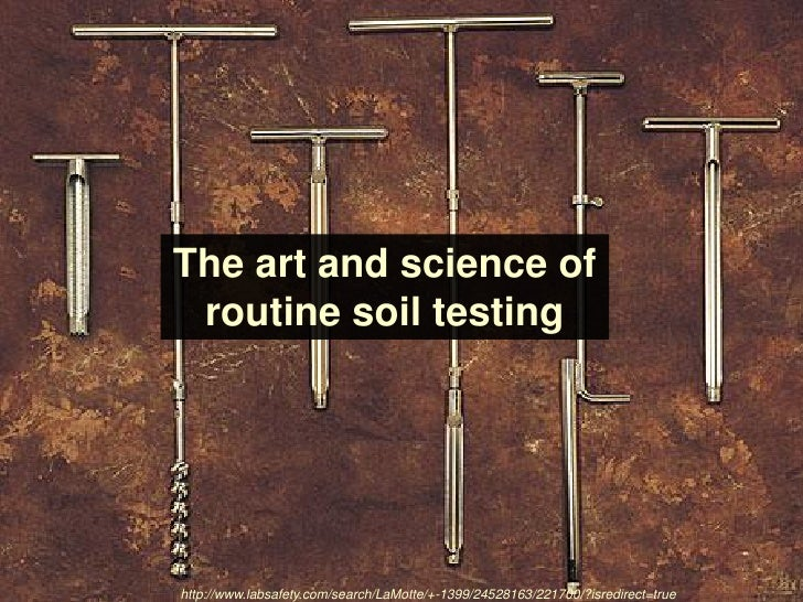 what is a soil test A reliable soil test correlates soil nutrients to plant use, and fertilizer  recommendations calibrate tests to field conditions for individual crops once the .