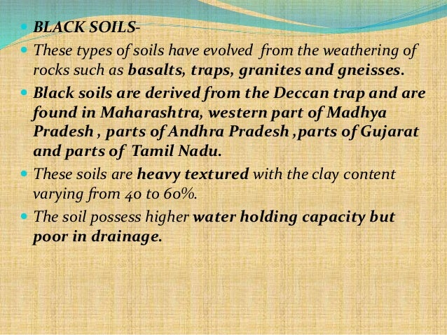 relationship of water and soil