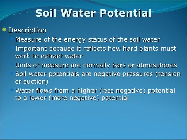 Soil water plant relationships for What is the origin of soil
