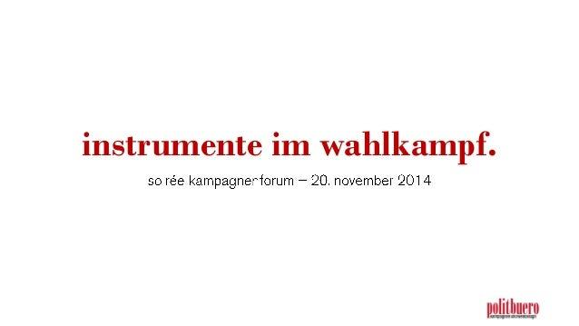 instrumente im wahlkampf.