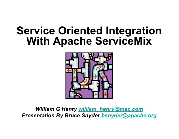 Service Oriented Integration  With Apache ServiceMix           William G Henry william_henry@mac.com  Presentation By Bruc...