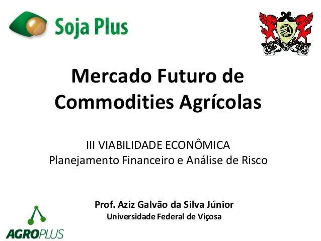 Mercado Futuro de  Commodities Agrícolas  Prof. Aziz Galvão da Silva Júnior  Universidade Federal de Viçosa  III VIABILIDA...