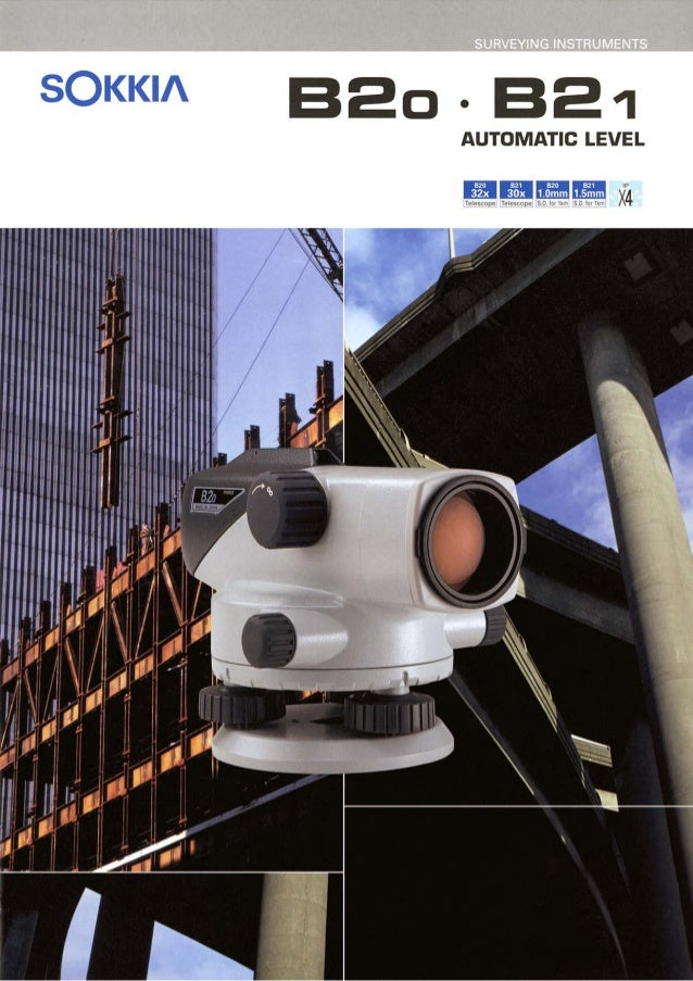 Alam Survey - Jual Automatic Level Sokkia B20, B30, B40 - 082119696710