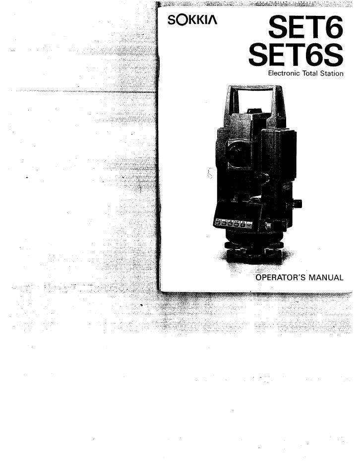 Sokkia Set6 Total Station Manual