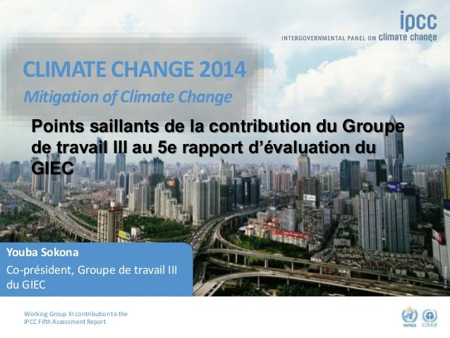 Working Group III contribution to the IPCC Fifth Assessment Report CLIMATE CHANGE 2014 Mitigation of Climate Change ©dream...