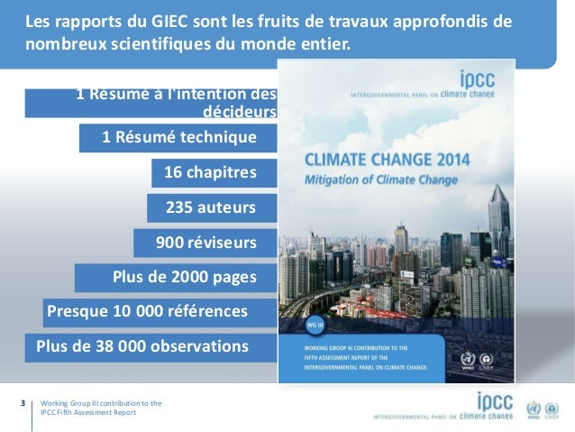 WGIII: Points saillants de la contribution du Groupe de travail III au 5e rapport d'évaluation du GIEC Slide 2