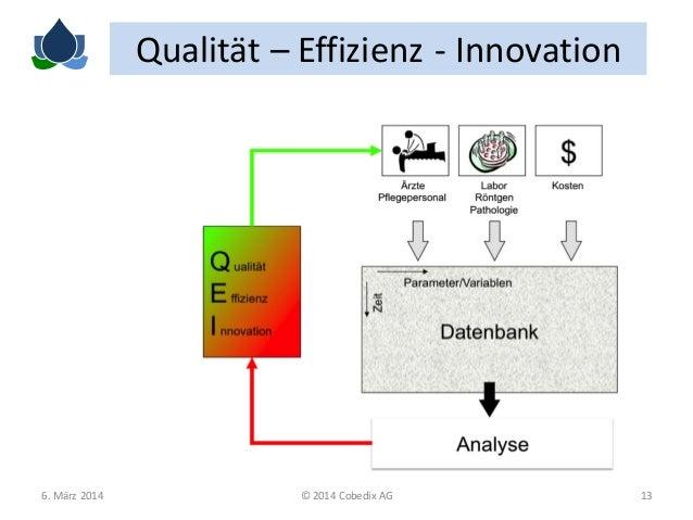 Qualität – Effizienz - Innovation  6. März 2014  © 2014 Cobedix AG  13