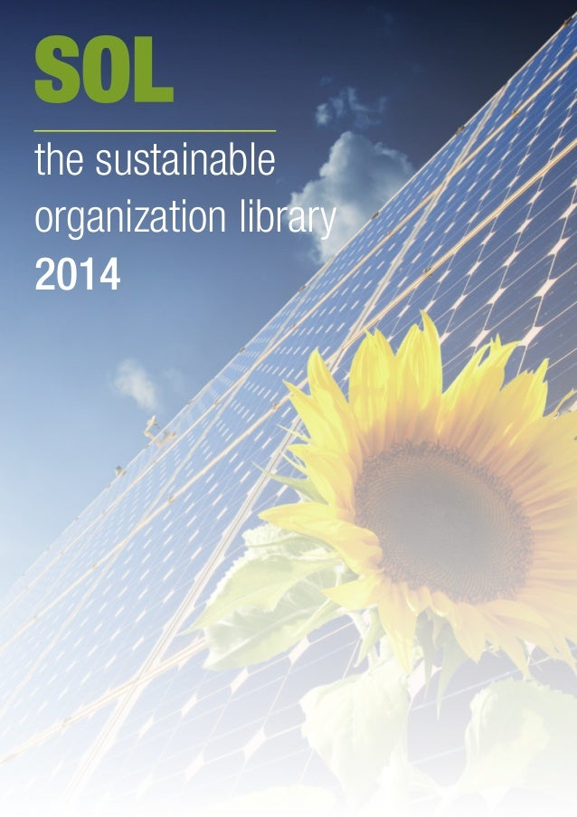 SOL the sustainable organization library 2014