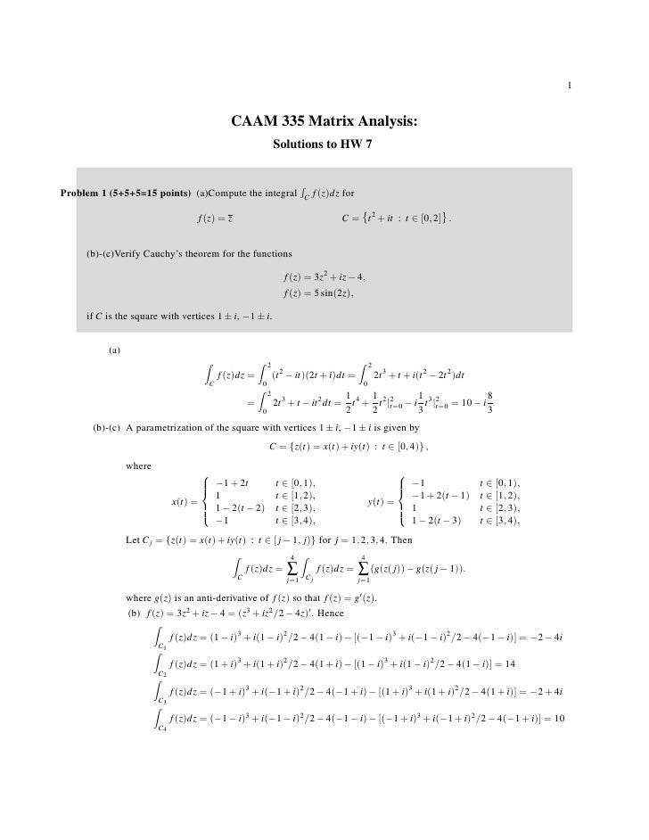 1                                             CAAM 335 Matrix Analysis:                                                   ...