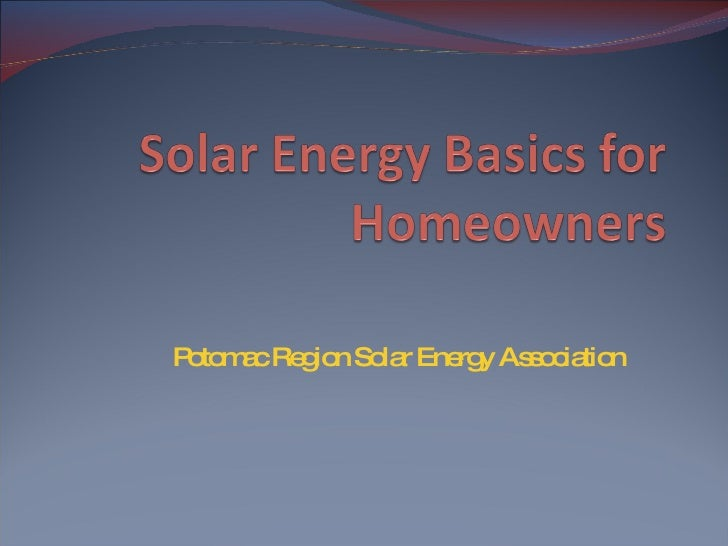Potomac Region Solar Energy Association