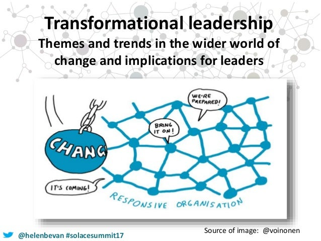 @helenbevan #solacesummit17 Transformational leadership Themes and trends in the wider world of change and implications fo...