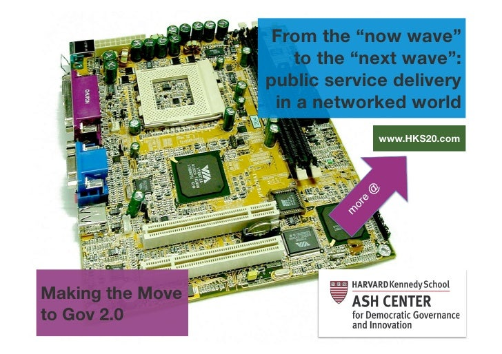 """From the """"now wave""""                      to the """"next wave"""":                   public service delivery                    ..."""