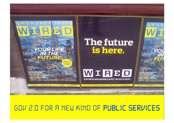 need for deep change & radical public service innovation using the web