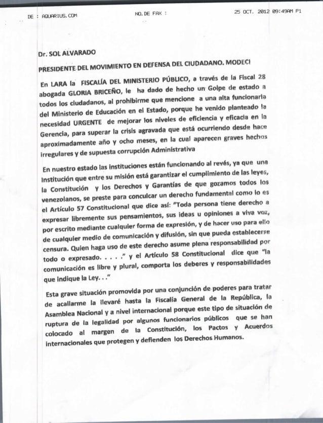 DE : AQUftRIUS.CÜM                 NO. DE FflX                       25 OCT. 2012   09:49f*1 Pl   Or.SOLALVARADO   PRESIDE...