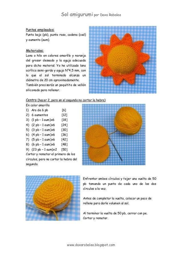 Sol amigurumi - patrón gratis