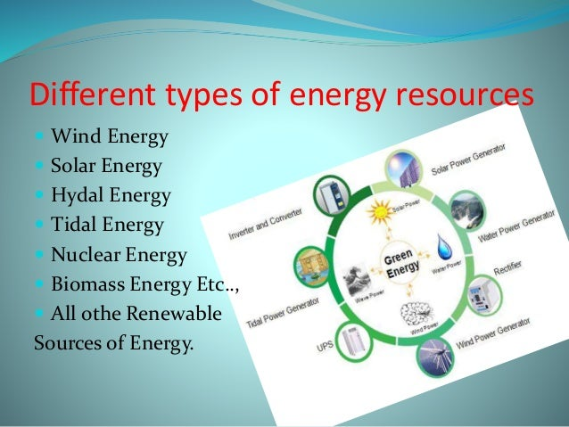 types energy and energy resources Advertisements: energy resources of the world and its types power or energy resources are the basic components of economic development and the amount of energy production is often considered as an index of.