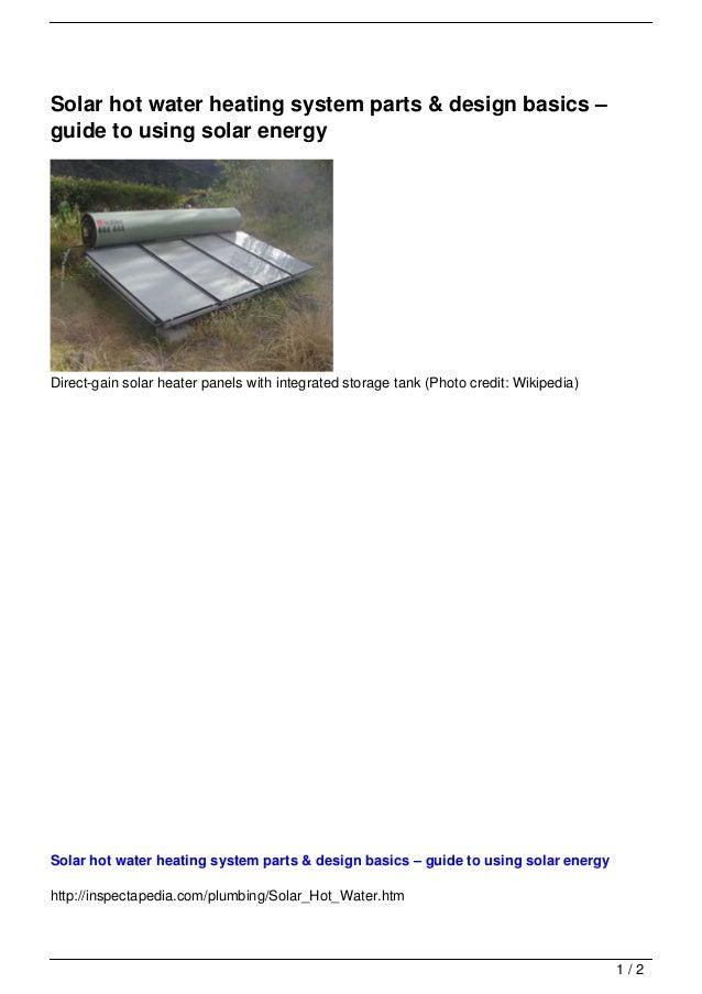 Solar hot water heating system parts & design basics – guid…