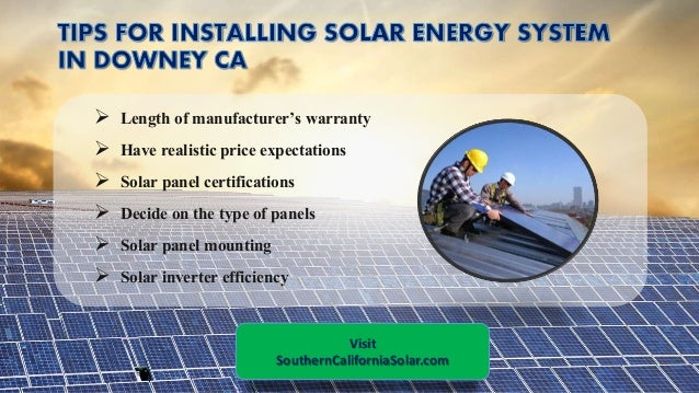Professional Solar Panel Installers In Downey