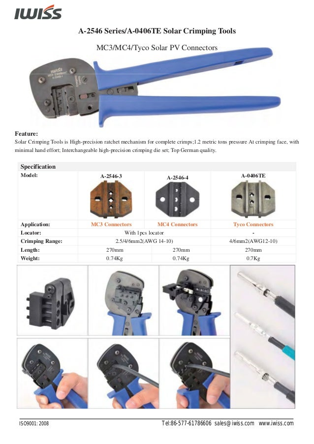 Solar Tool Kits with Crimping Tools Cable Cutter and Wire Stripper