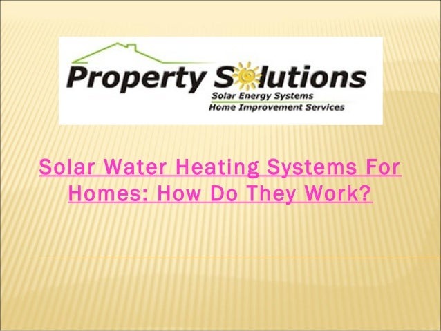 solar water heating systems for homes