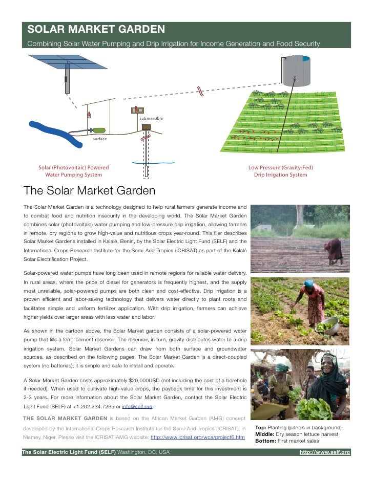 SOLAR MARKET GARDEN   Combining Solar Water Pumping and Drip Irrigation for Income Generation and Food Security           ...
