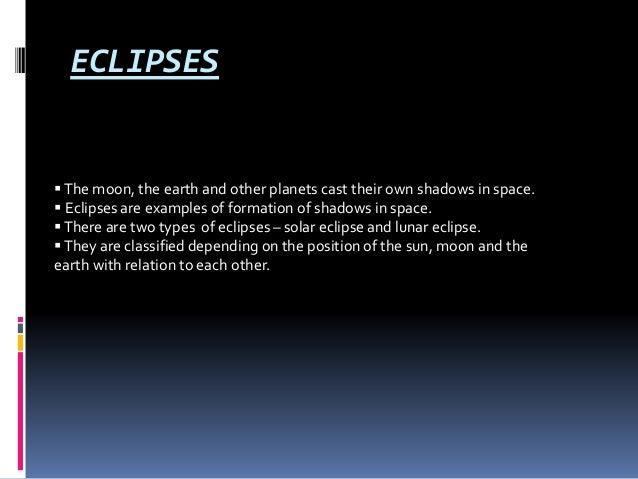 Solar and lunar eclipse Slide 2