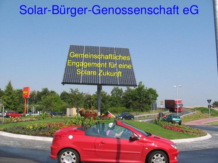 Solar bürger genossenschaft