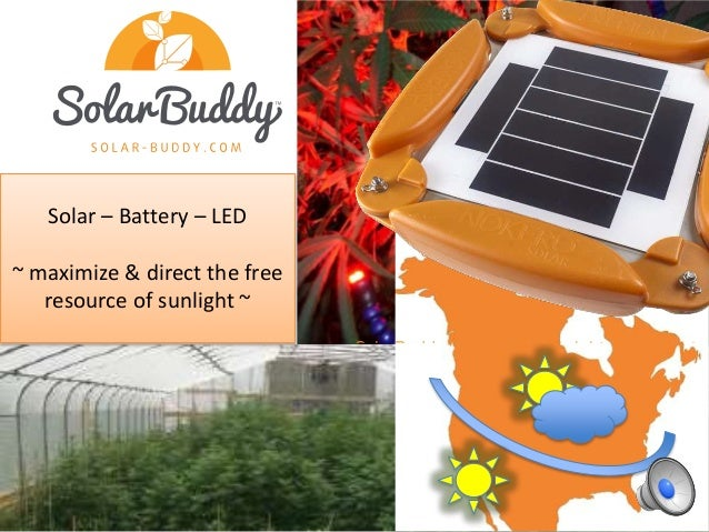 Solar – Battery – LED ~ maximize & direct the free resource of sunlight ~ SolarBuddy is the world'sbright est integrated I...
