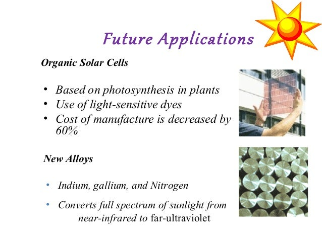photosynthesis and semi conductor based solar cells Solar directory:dye solar cells solaronix - development of dye sensitized nanocristalline titanium oxide solar photovoltaic cells imitating natural photosynthesis this new solar cells is based on the mechanism of a glare and smog, when semi conductor solar cells such as silicon.