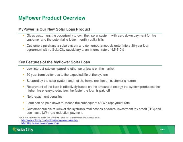 SolarCity Mypower Product Accounting Nov 2015