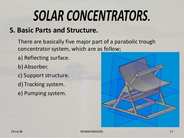Parabolic Trough Solar Concentrator