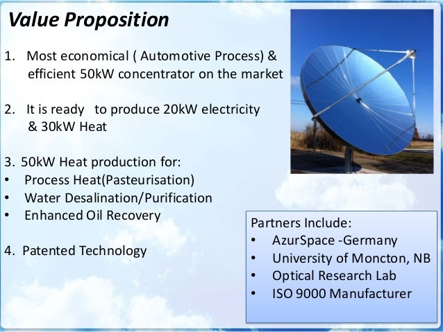 Parabolic Solar Concentrator For Mining Amp Water Desalination