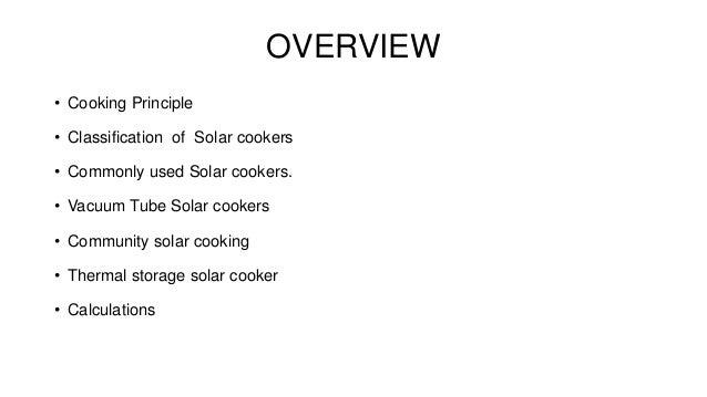 principle of solar cooker