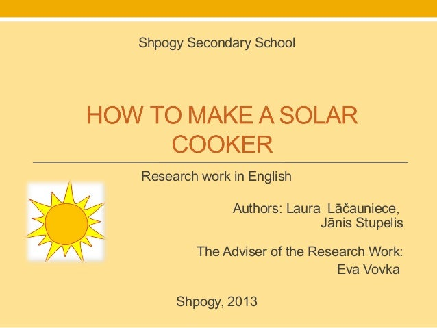 Shpogy Secondary SchoolResearch work in English              Authors: Laura Lāčauniece,                            Jānis S...