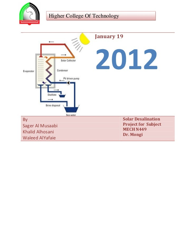 Higher College Of Technology                             January 19                             2012By                    ...