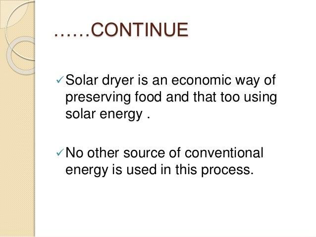 Solar dryer Slide 3