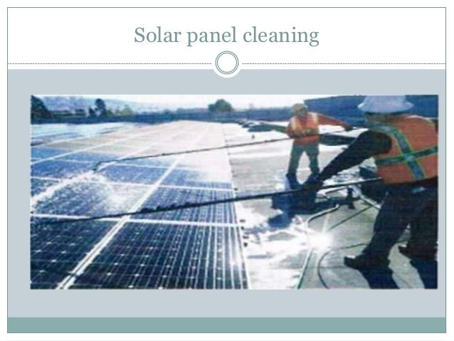 Solar Dust Cleaning System