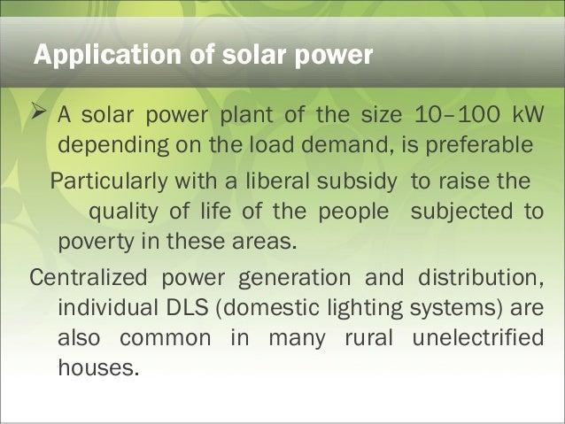 Solar Energy Power Point Presentation