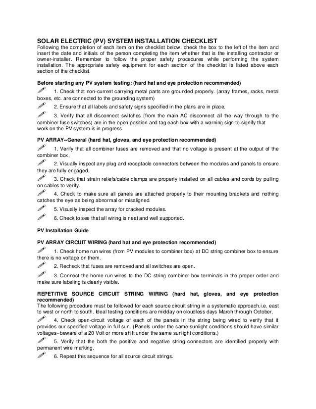 Solar Installation Sample Contract For Solar Installation