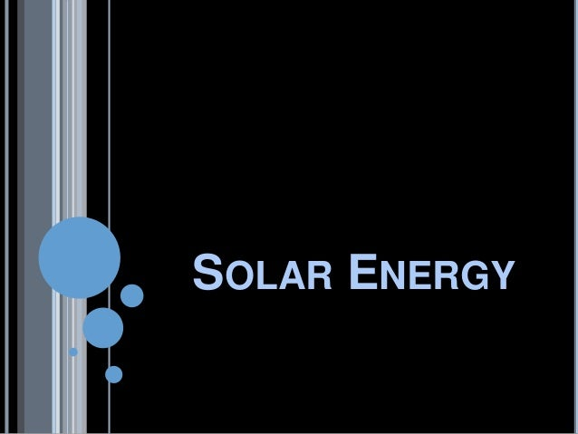 application of solar energy ppt