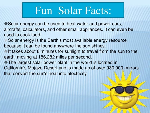 Solar Energy (how it works and fact)